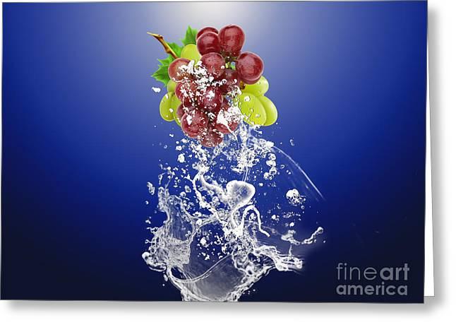 Grape Splash Greeting Card by Marvin Blaine