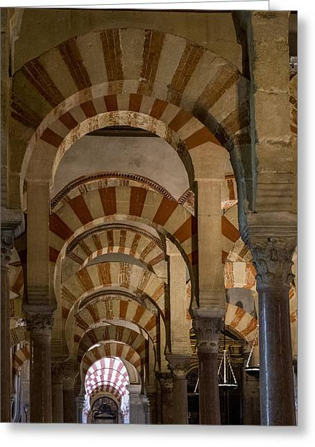 Great Mosque Greeting Cards - Great Mosque of Cordoba - Cordoba Spain Greeting Card by Jon Berghoff