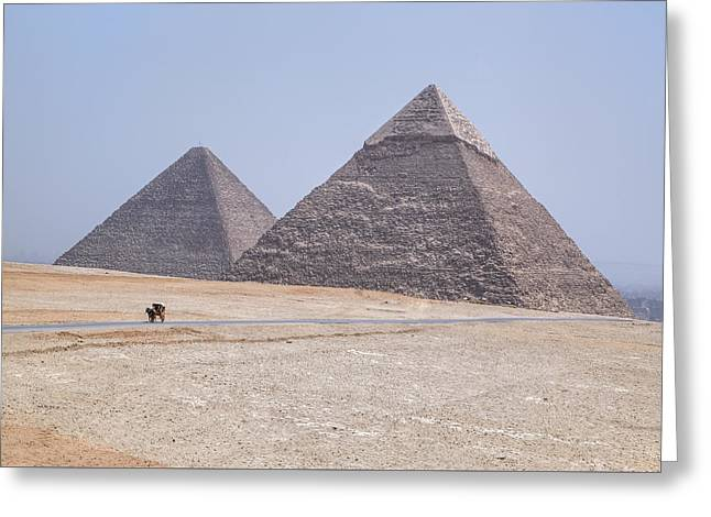Great Pyramids Of Giza - Egypt Greeting Card by Joana Kruse