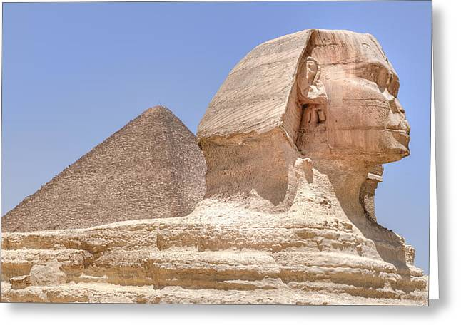 Pyramids Greeting Cards - Great Sphinx of Giza - Egypt Greeting Card by Joana Kruse