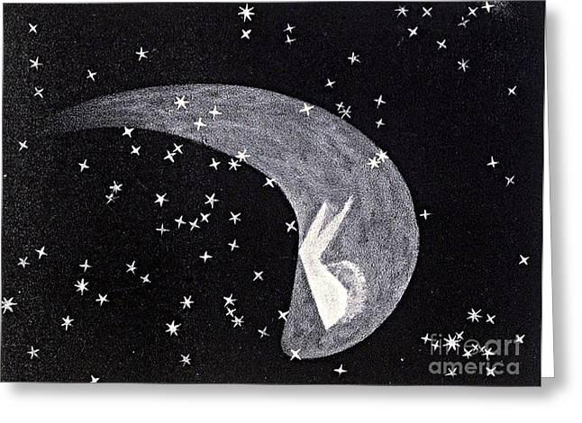 Halleys Comet, 1835 Greeting Card by Science Source