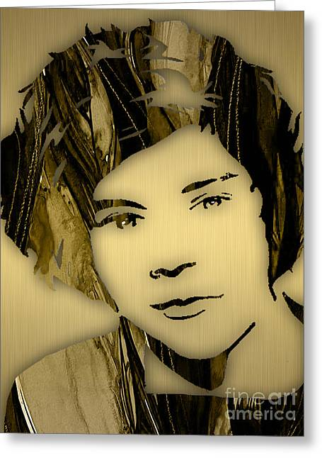 Harry Styles Collection Greeting Card by Marvin Blaine