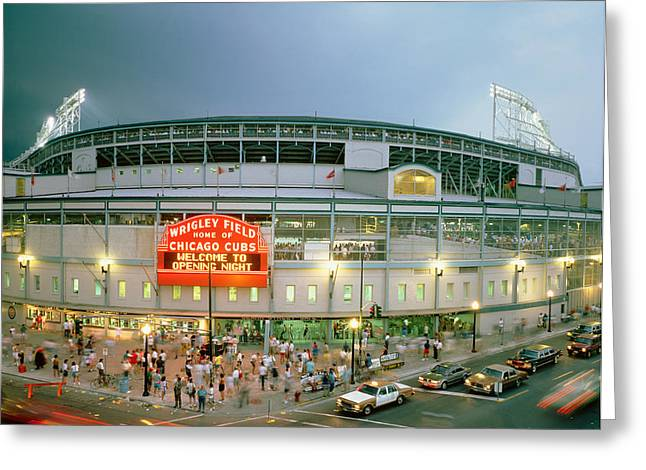 Wrigley Field Greeting Cards - High Angle View Of Tourists Greeting Card by Panoramic Images