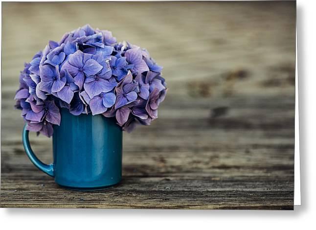 Hortensia Flowers Greeting Card by Nailia Schwarz