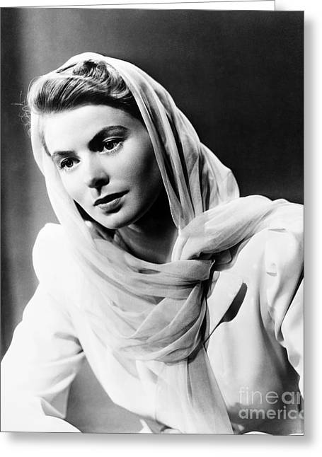 Starlet Photographs Greeting Cards - Ingrid Bergman (1915-1982) Greeting Card by Granger