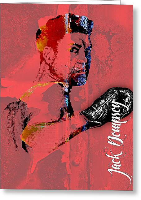 Jack Dempsey Collection Greeting Card by Marvin Blaine