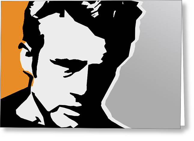 The 80s Greeting Cards - James dean  Greeting Card by Mark Ashkenazi