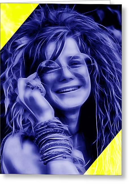 Janis Joplin Greeting Cards - Janis Joplin Collection Greeting Card by Marvin Blaine