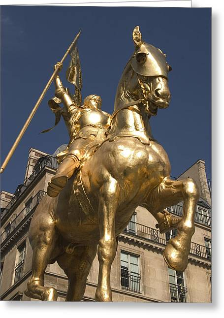 Bravery Greeting Cards - Joan of Arc Greeting Card by Carl Purcell