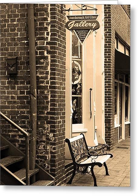 Main Street Corners Greeting Cards - Jonesborough Tennessee - Main Street Greeting Card by Frank Romeo