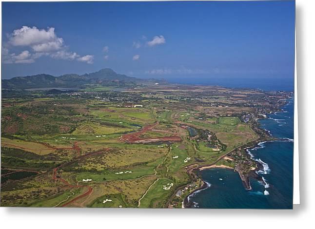 Hyatt Hotel Greeting Cards - Kauai Aerial Greeting Card by Steven Lapkin