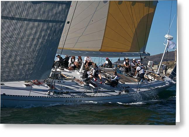 Sailboat Art Greeting Cards - Kialoa III Greeting Card by Steven Lapkin