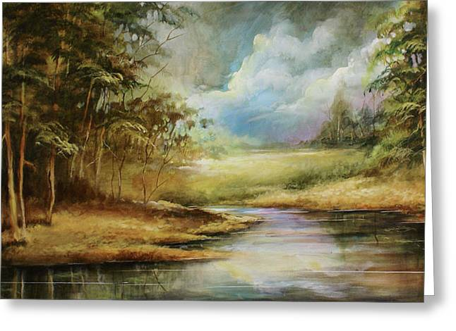 Quite Paintings Greeting Cards - Landscape Greeting Card by Michael Lang