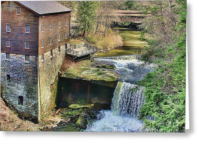 Lanterman's Mill Greeting Card by Jack Schultz