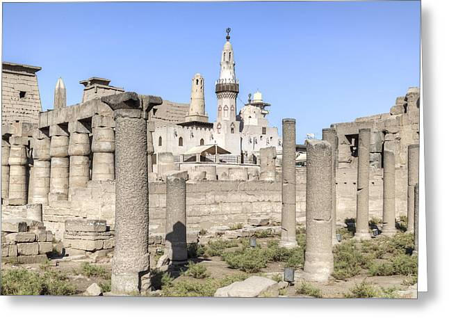 Luxor Greeting Cards - Luxor Temple - Egypt Greeting Card by Joana Kruse