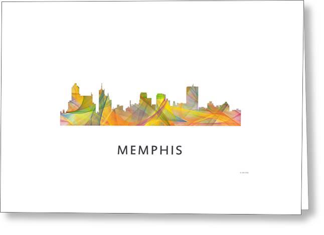 Tennessee Landmark Greeting Cards - Memphis Tennessee Skyline Greeting Card by Marlene Watson