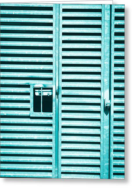 Abstract Style Greeting Cards - Metal gate Greeting Card by Tom Gowanlock
