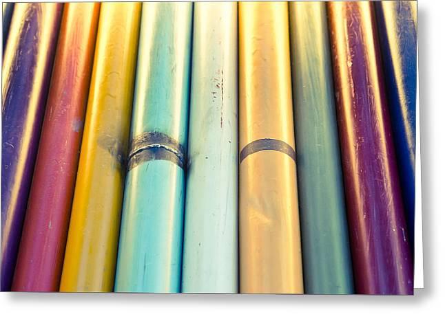 Metal Poles Greeting Card by Tom Gowanlock