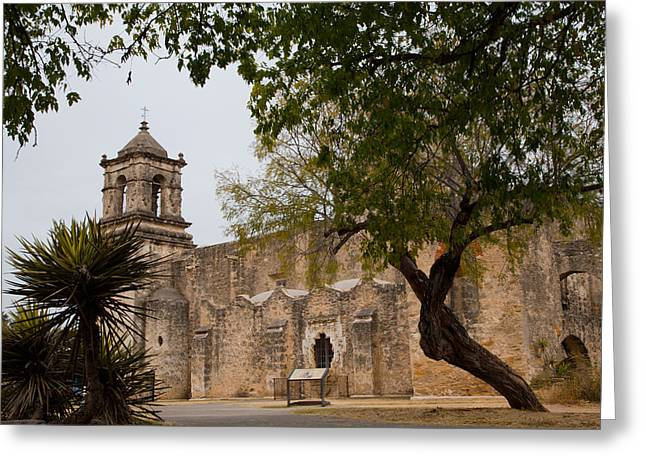 Historical Buildings Greeting Cards - Mission San Jose Greeting Card by Iris Greenwell