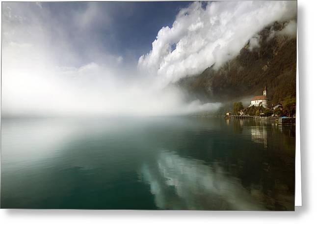 Foggy Day Greeting Cards - Misty Morning Greeting Card by Angel  Tarantella