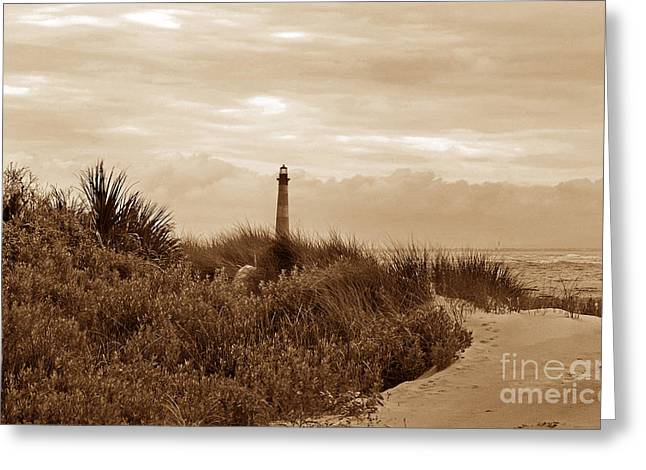 Ocean Art Photos Greeting Cards - Morris Island Lighthouse Sc Greeting Card by Skip Willits