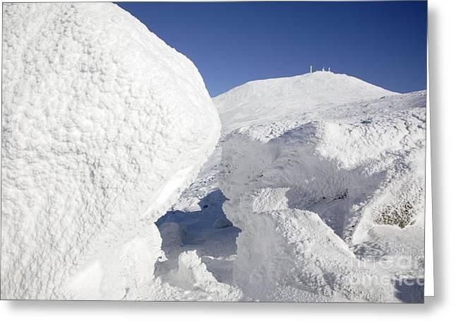 Snow-covered Landscape Greeting Cards - Mount Washington - New Hampshire USA Greeting Card by Erin Paul Donovan