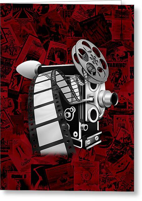 Old Camera Mixed Media Greeting Cards - Movie Room Decor Collection Greeting Card by Marvin Blaine