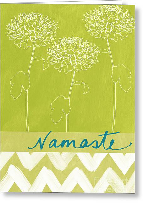 Zen Greeting Cards - Namaste Greeting Card by Linda Woods