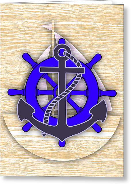 Nautical Greeting Cards - Nautical Collection Greeting Card by Marvin Blaine