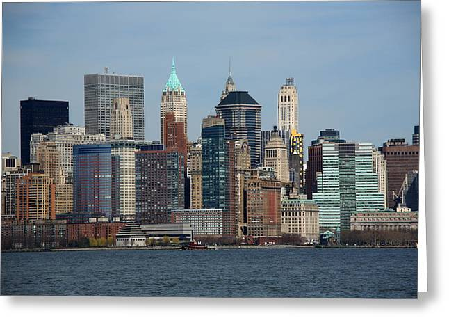 New York City Skyline Greeting Card by Frank Romeo