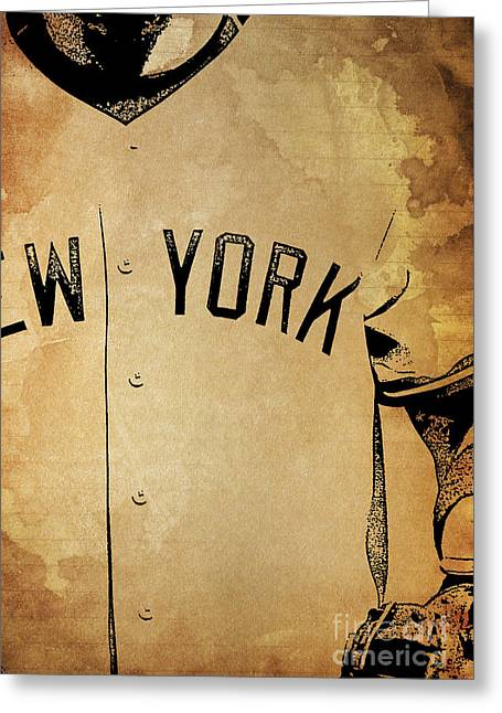 New York Yankees Baseball Team Vintage Card Greeting Card by Pablo Franchi