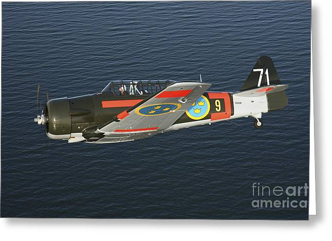 North American Aviation Greeting Cards - North American Aviation T-6 Texan Greeting Card by Daniel Karlsson