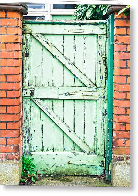 Framework Greeting Cards - Old gate Greeting Card by Tom Gowanlock
