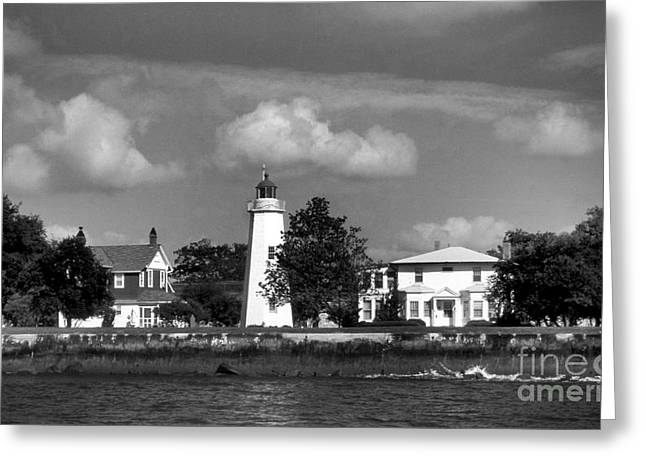 Ocean Art. Beach Decor Greeting Cards - Old Point Comfort Lighthouse Greeting Card by Skip Willits
