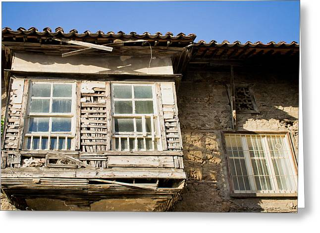 Abandoned Houses Greeting Cards - Old window Greeting Card by Tom Gowanlock