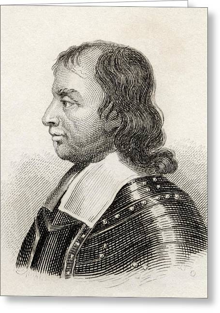 Cromwell Greeting Cards - Oliver Cromwell, 1599 To 1658. English Greeting Card by Ken Welsh