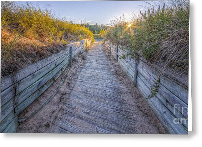 Onekama Shoreline Greeting Card by Twenty Two North Photography