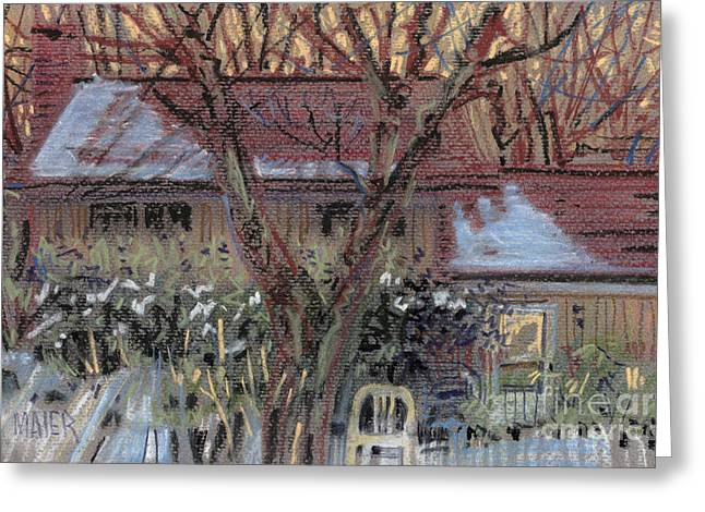 Snow Pastels Greeting Cards - Our House Greeting Card by Donald Maier