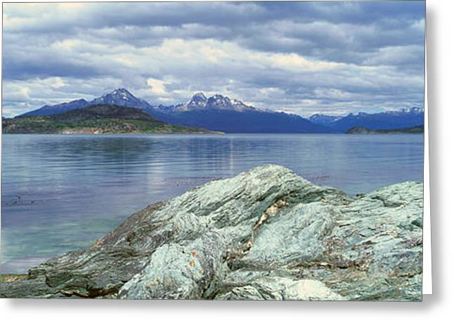Andes Greeting Cards - Panoramic View Of Ushuaia, Tierra Del Greeting Card by Panoramic Images