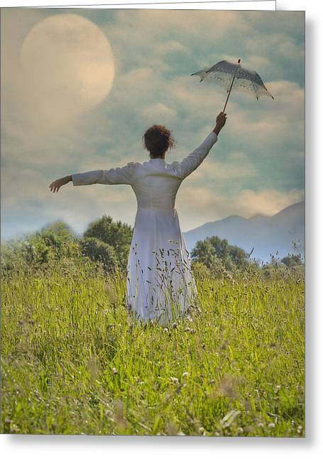 Turf Greeting Cards - Parasol Greeting Card by Joana Kruse