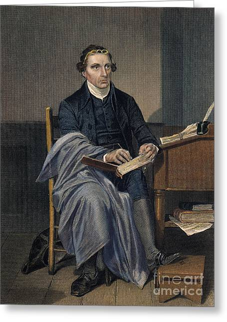 18th Century Greeting Cards - Patrick Henry (1736-1799) Greeting Card by Granger