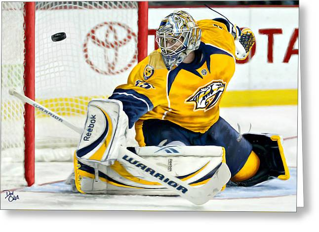 Nashville Tennessee Greeting Cards - Pekka Rinne Greeting Card by Don Olea