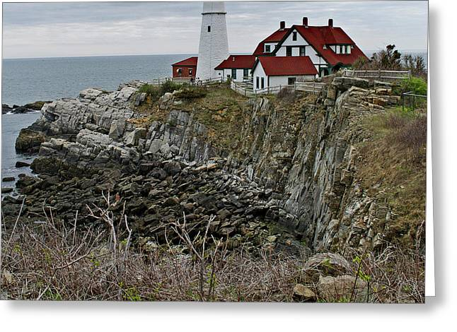 Portland Head Lighthouse, Me Greeting Card by Skip Willits