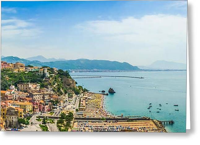 Postcard View Of Amalfi Coast, Campania, Italy Greeting Card by JR Photography
