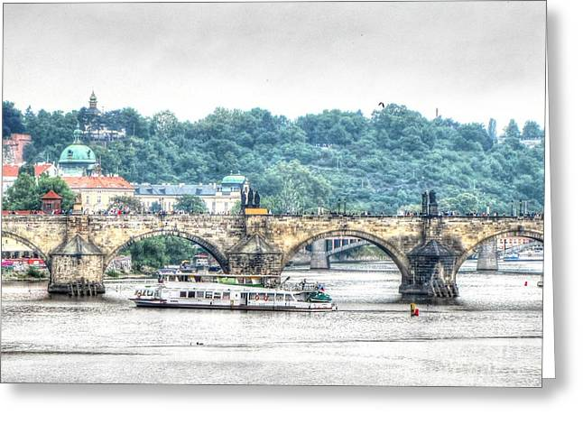 People Pyrography Greeting Cards - Praha Greeting Card by Yury Bashkin