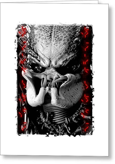 Female Body Greeting Cards - Predator Yautja Greeting Card by Twentyfirst Centuryart