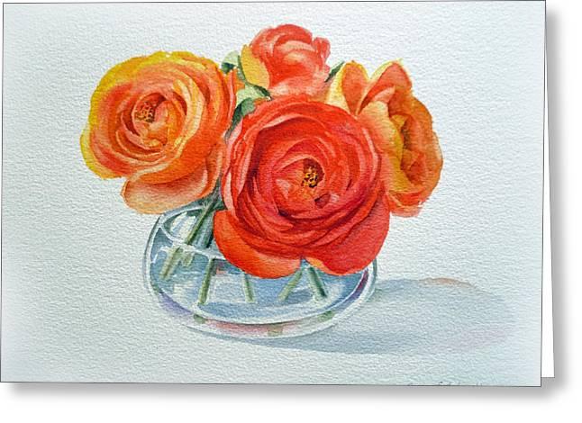 Ranunculus Greeting Card by Irina Sztukowski