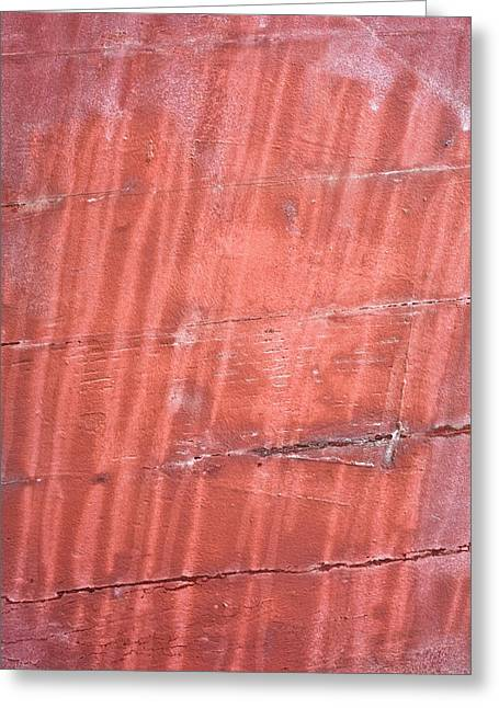 Metallic Sheets Greeting Cards - Red metal Greeting Card by Tom Gowanlock