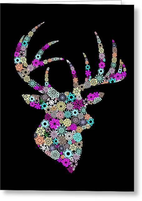 Congratulations Greeting Cards - Reindeer Design By Snowflakes Greeting Card by Setsiri Silapasuwanchai