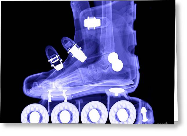 Roller Skates Greeting Cards - Rollerblade Boot Greeting Card by Ted Kinsman